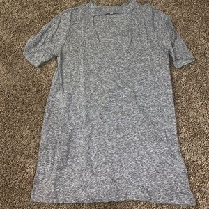 UO Truly Madly Deeply Grey Tee w/ V neck cut NWOT